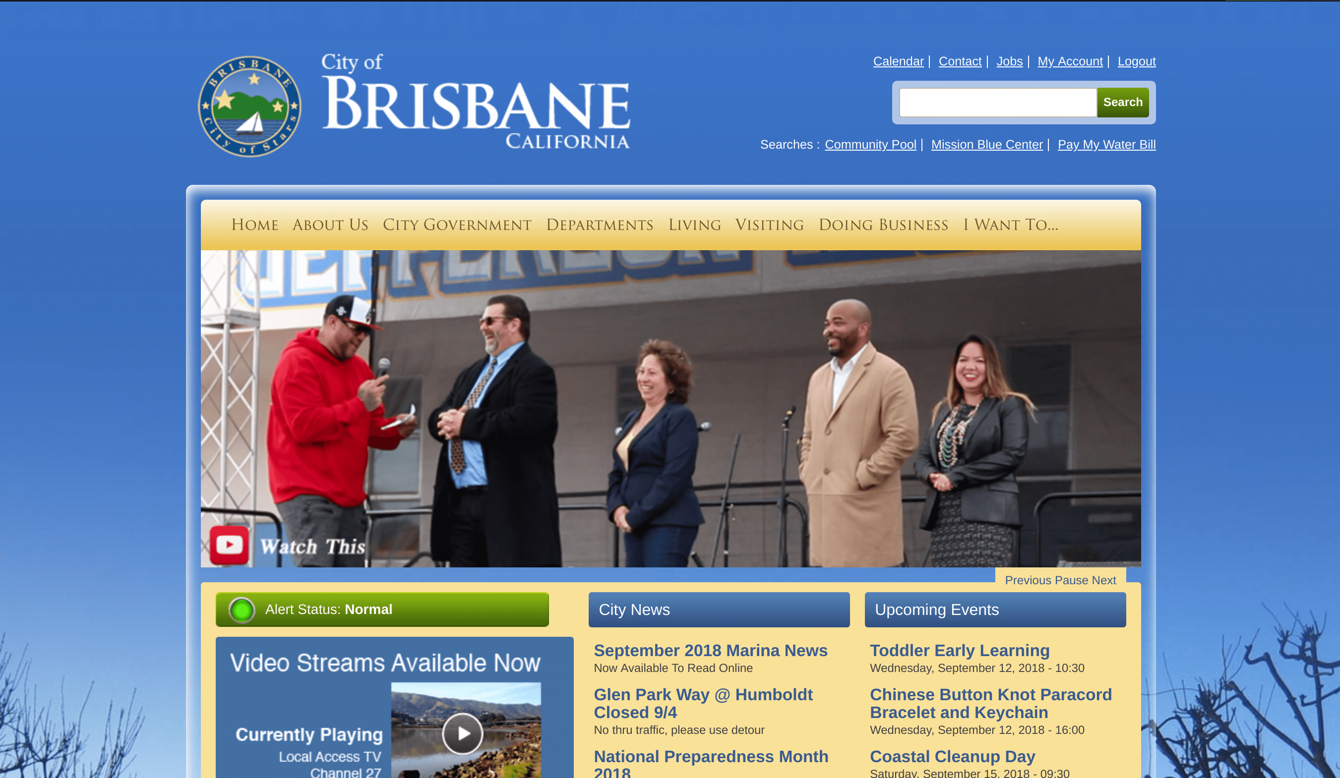 City of Brisbane front page